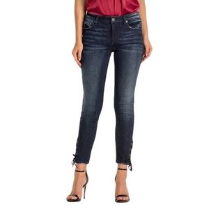 Miss Me Laced Up Ankle Skinny Dark Wash Size 27